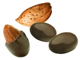 Dragee Almond covered with dark chocolate