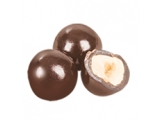 Dragee Hazelnuts covered with dark chocolate